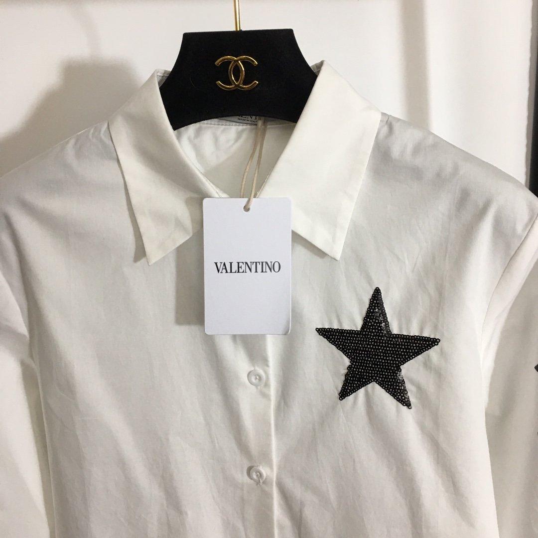 Valentino新款五角星亮片刺绣