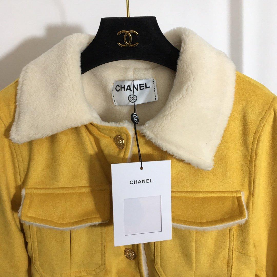 Chanel新款小香风狮子头金扣仿羊