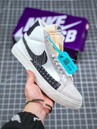 "王一博同款 耐克/Nike SB Blazer Mid Premium""Sashiko Sesame"""