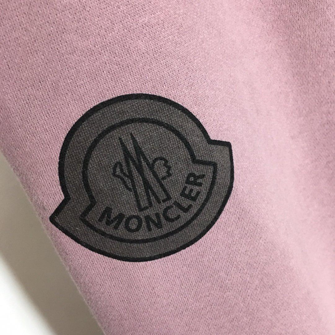 Moncler新款字母印花加绒圆领套