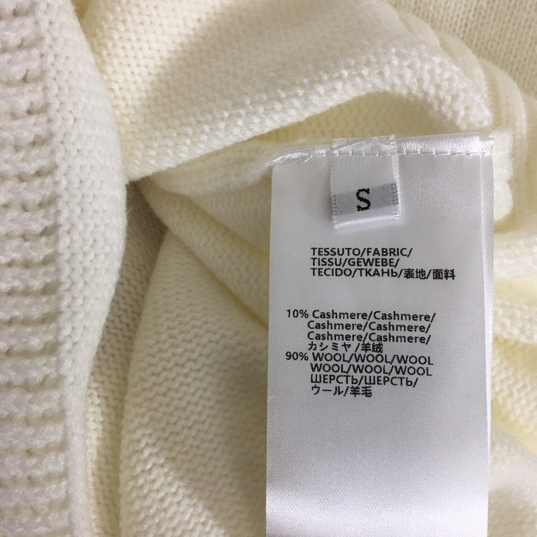 ADER新款流苏刺绣花朵羊绒羊毛针织