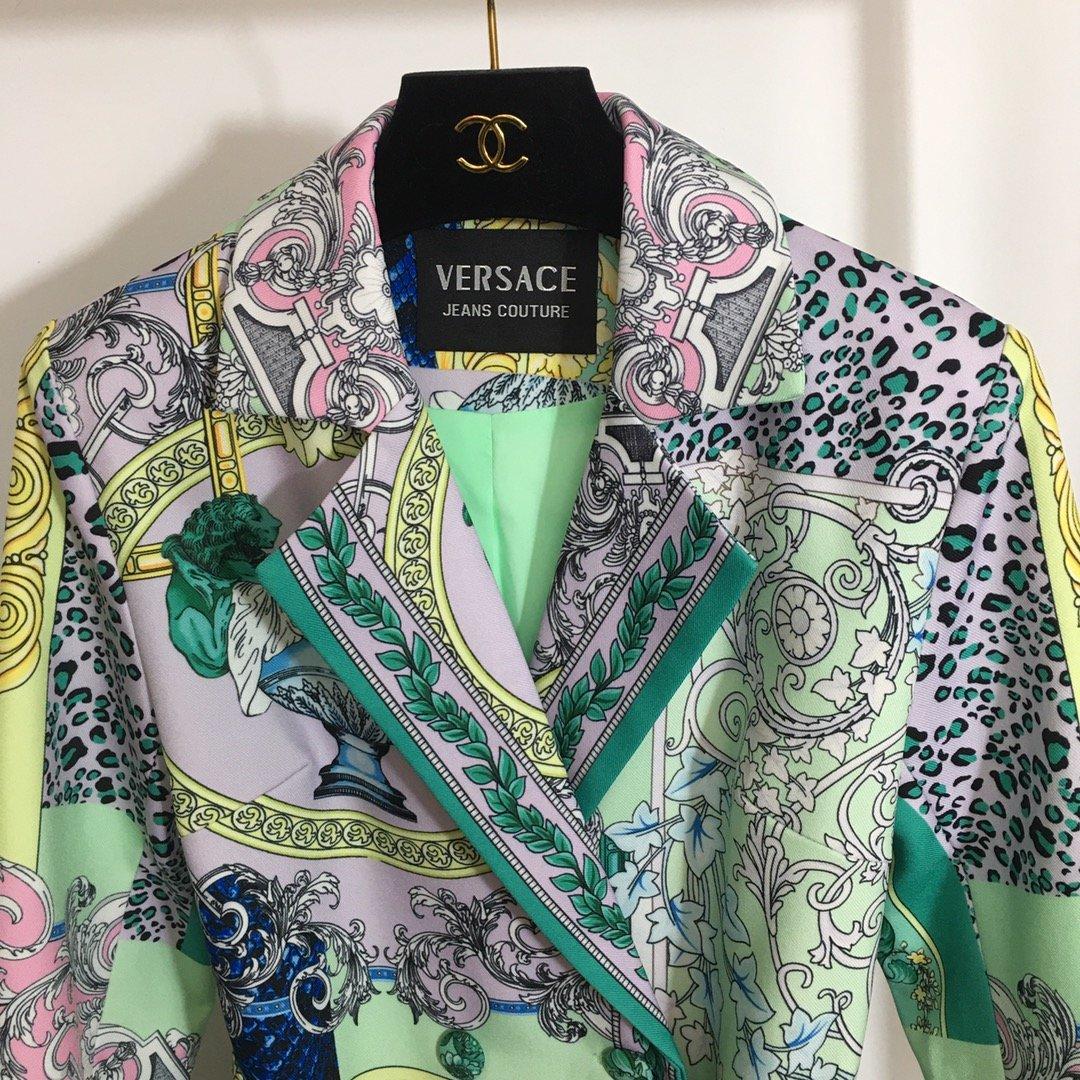 Versace新款复古印花腰带收腰翻