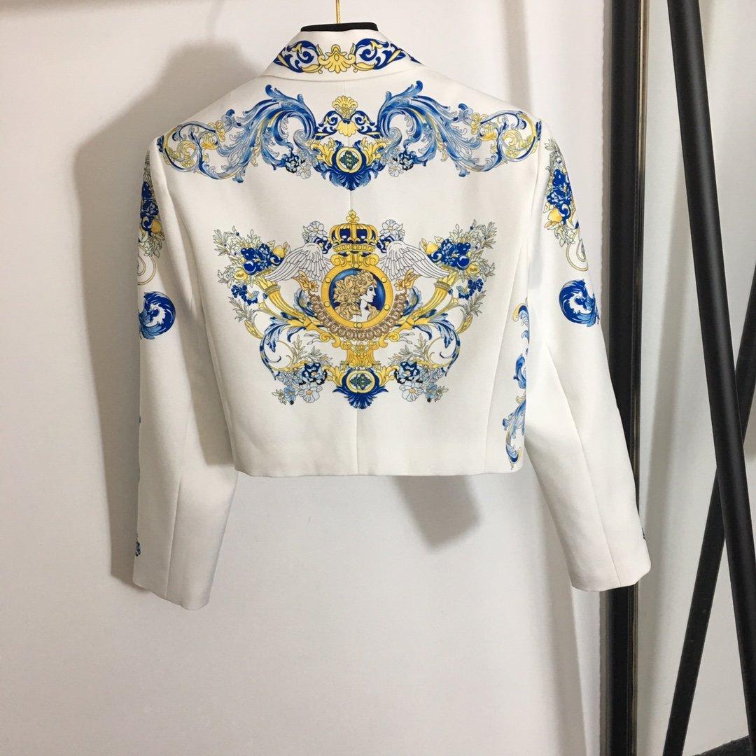 Versace新款名族风复古印花长袖