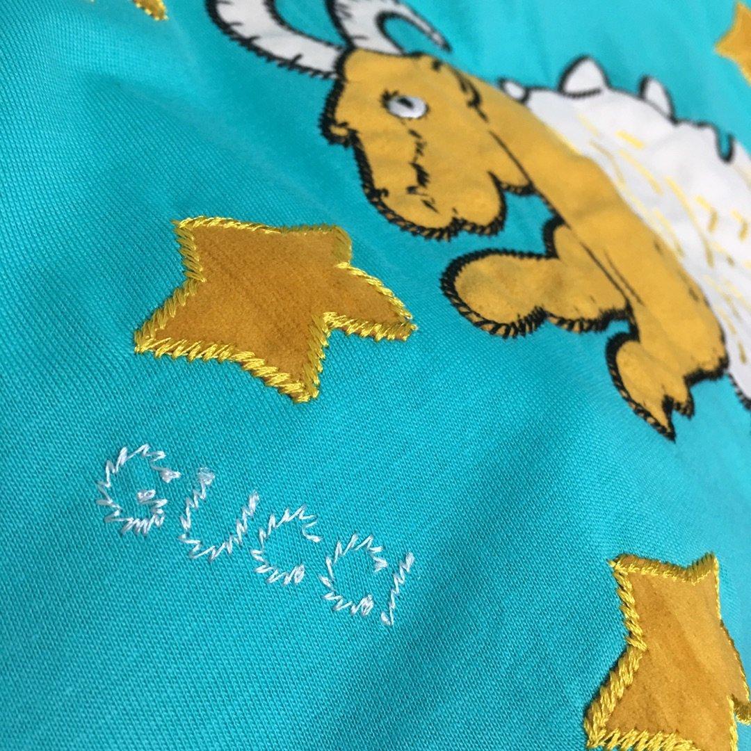 Gucci年新款飞天山羊五角星星刺绣