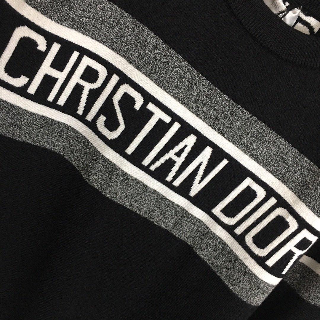 Dior新款双面穿满身字母圆领套头毛