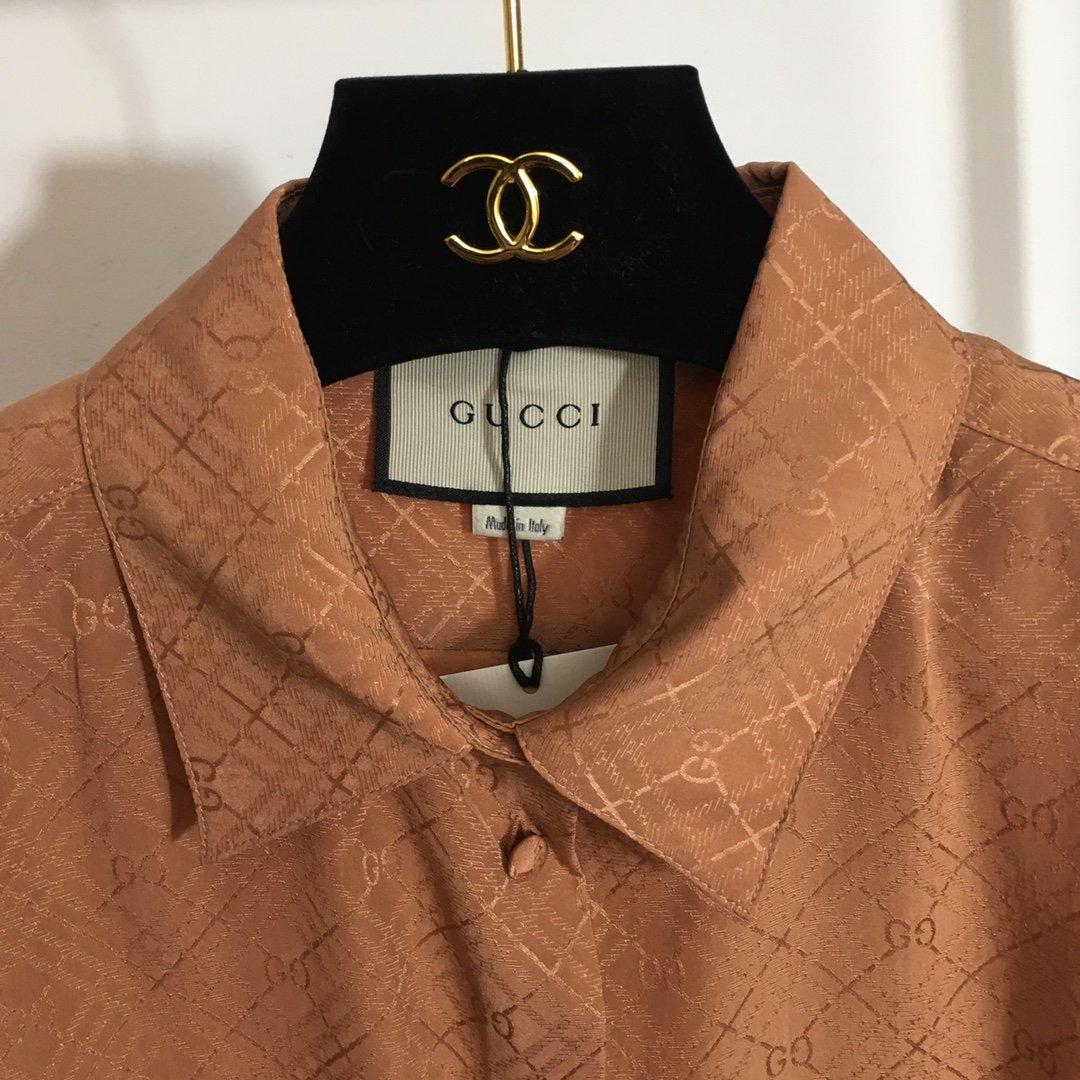 Gucci新款G字母提花100%桑蚕
