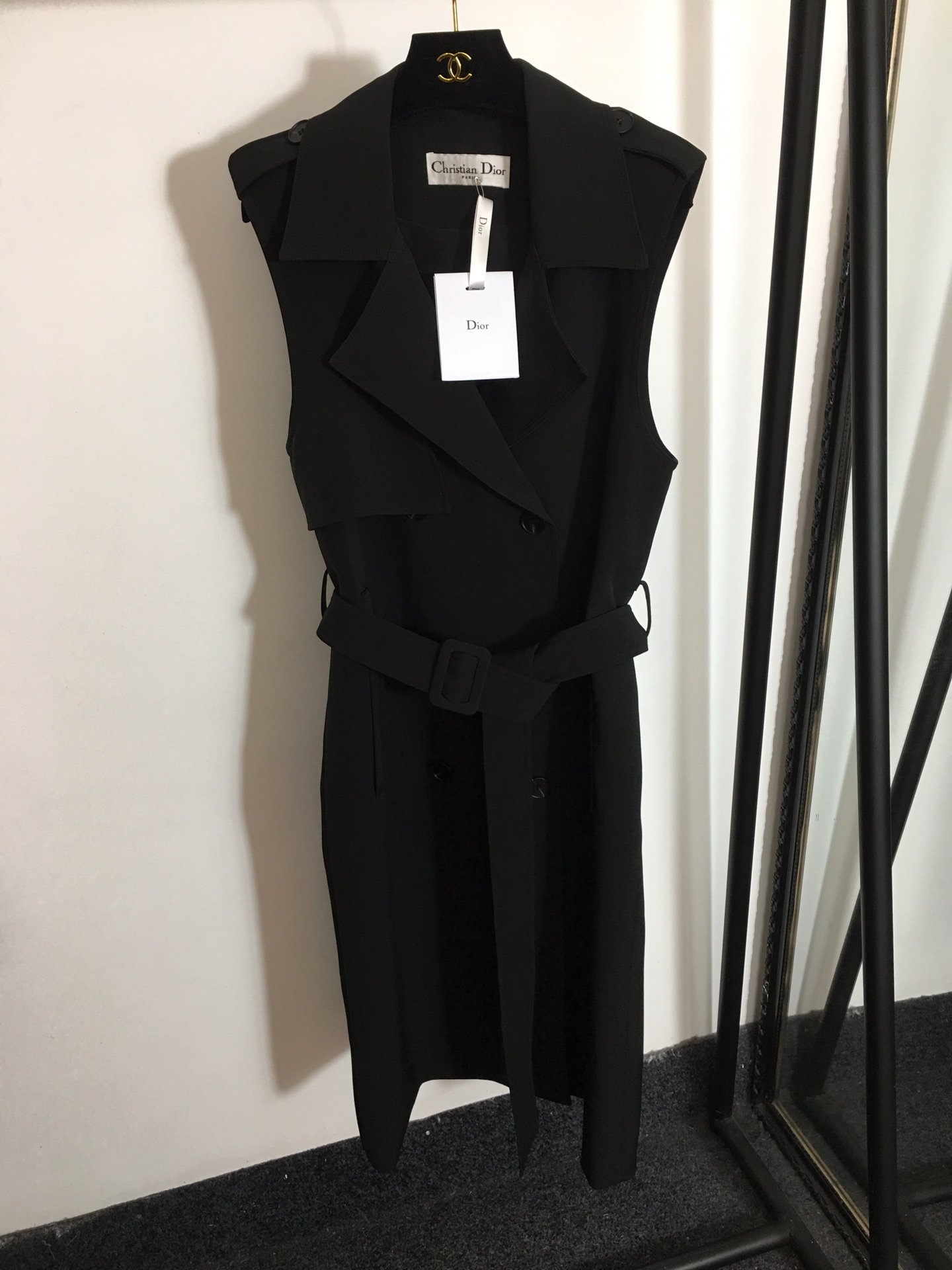Dior新款时尚双排扣系带收腰西装领
