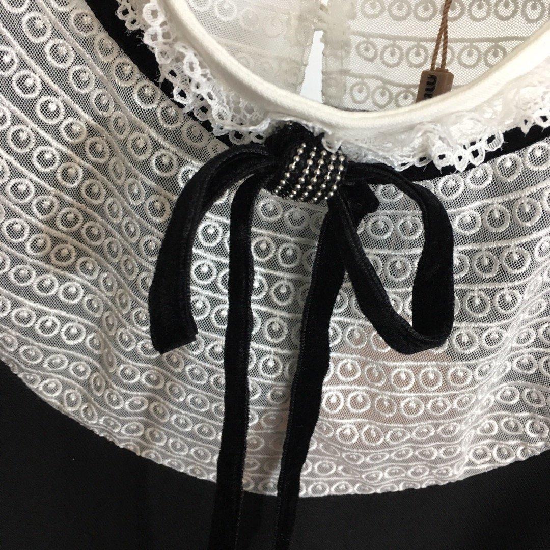 Miumiu新款重工钉珠亮片透视网纱