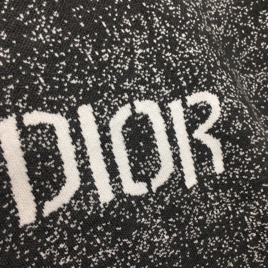 Dior新款字母logo印花圆领长袖