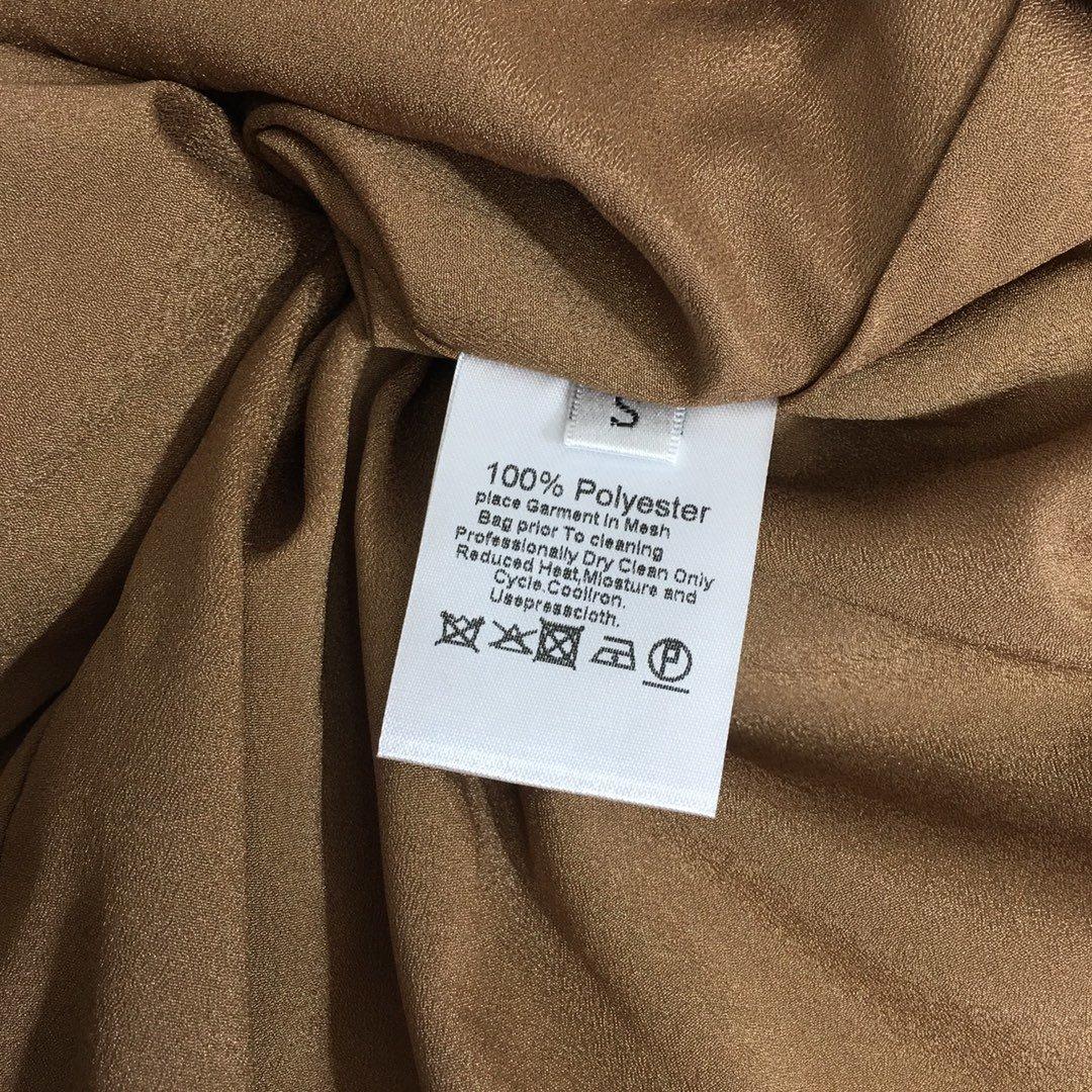 Dior新款复古优雅印花泡泡长袖收腰