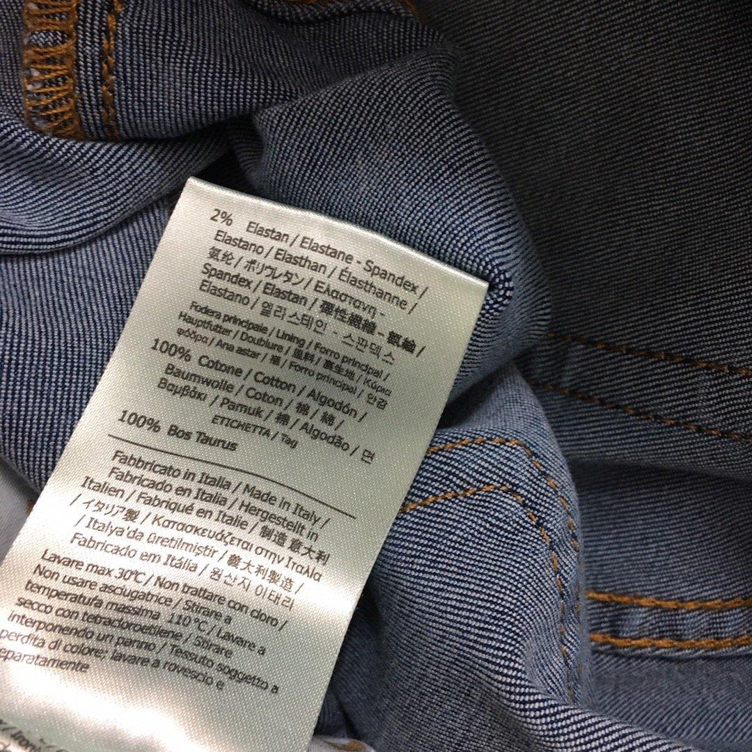 Fendi新款后背F字母刺绣口袋修身