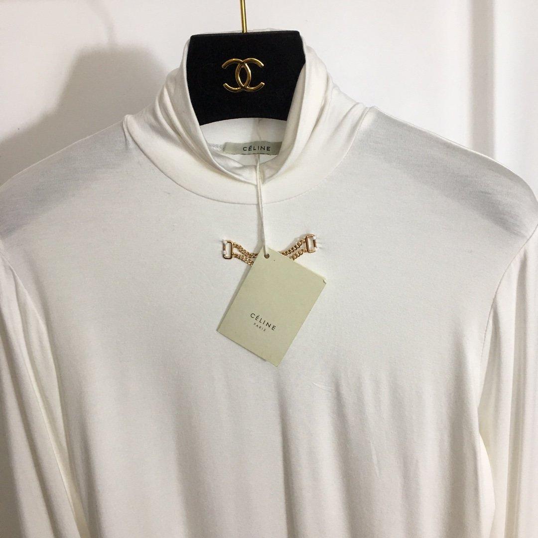 Celine新款金属链条装饰纯色百搭