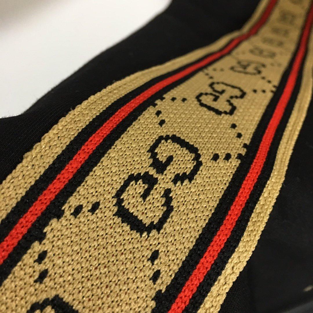 Gucci新款双G字母织带拼接长袖拉