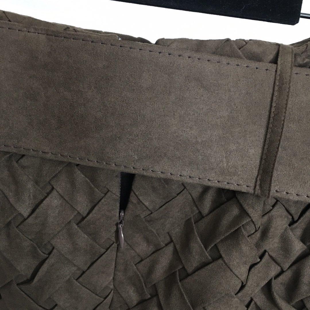 Dior新款篱笆编织腰带收腰高腰包臀
