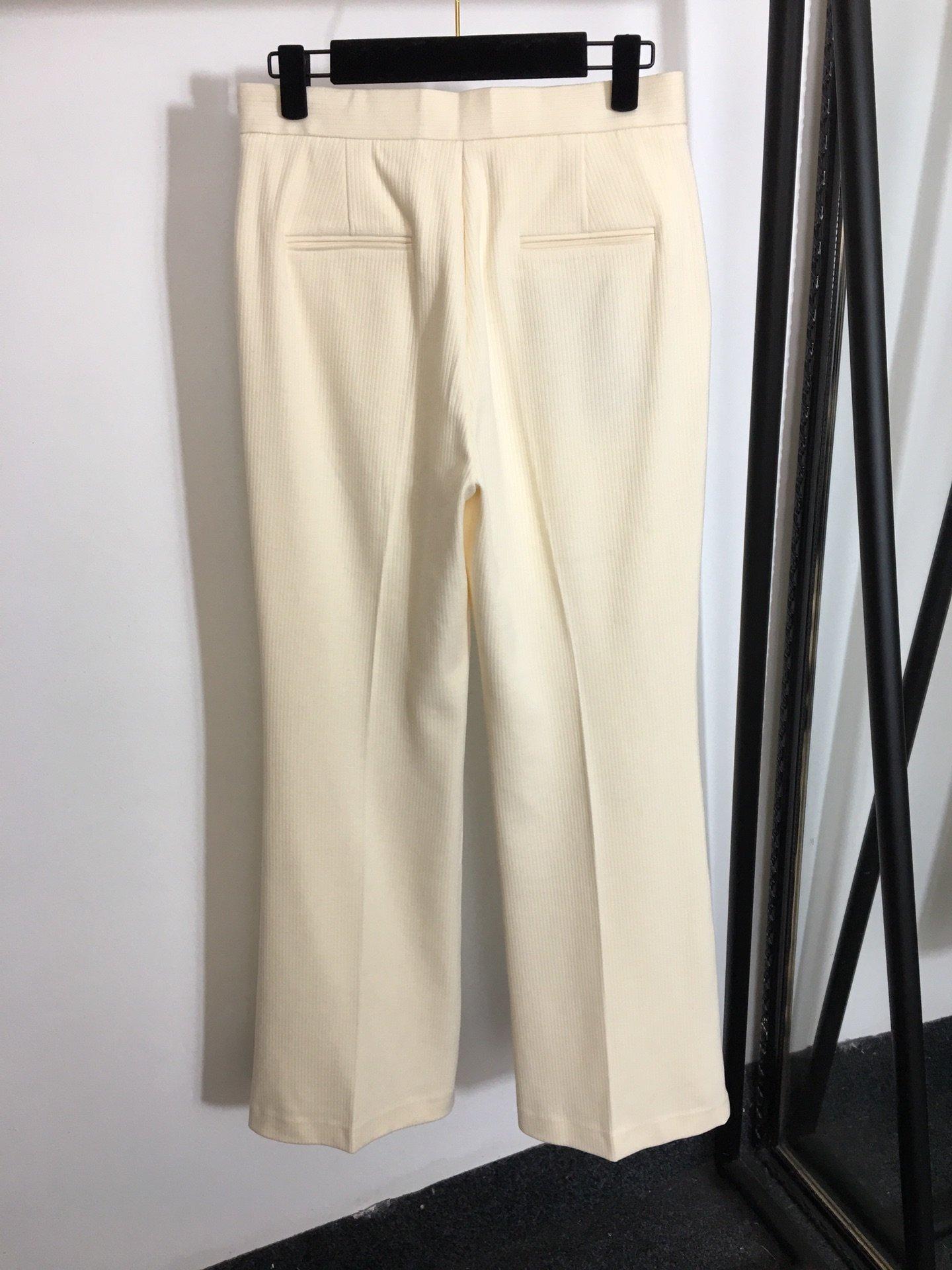 MaxMara新款垂坠感高腰阔腿长裤
