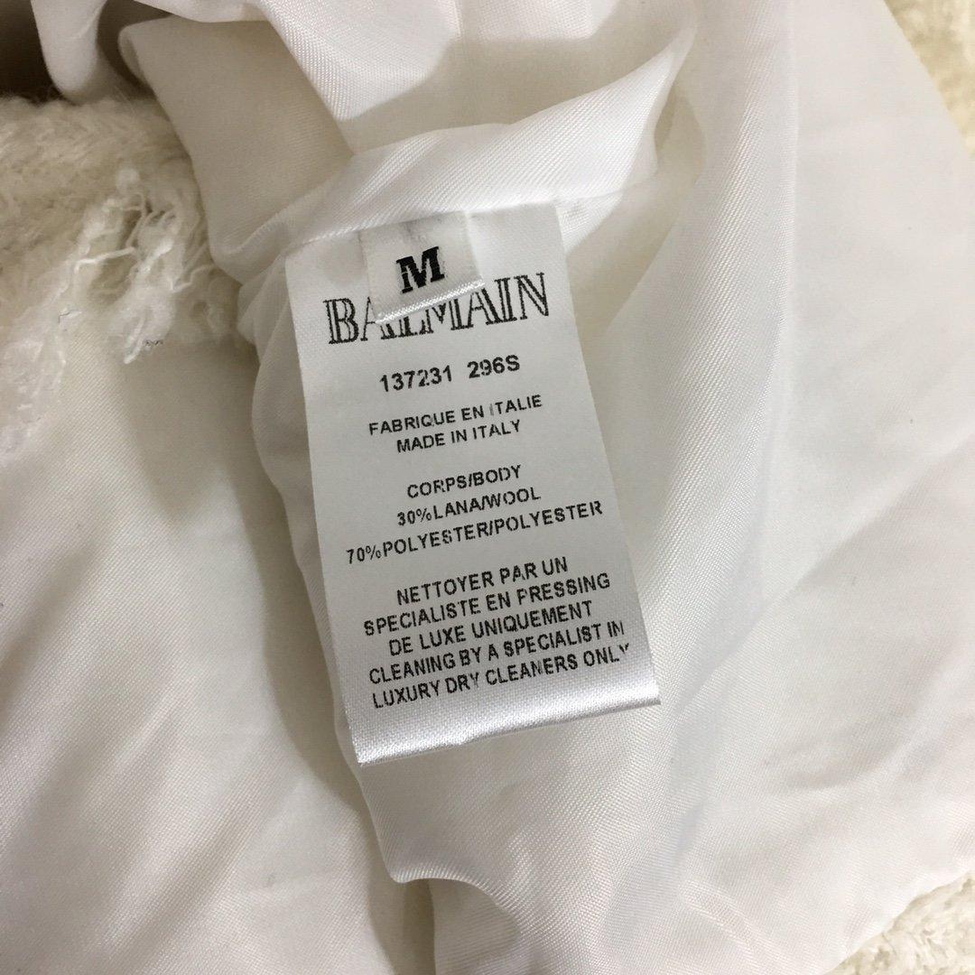 Balmain新款重工钉珠刺绣胸章B