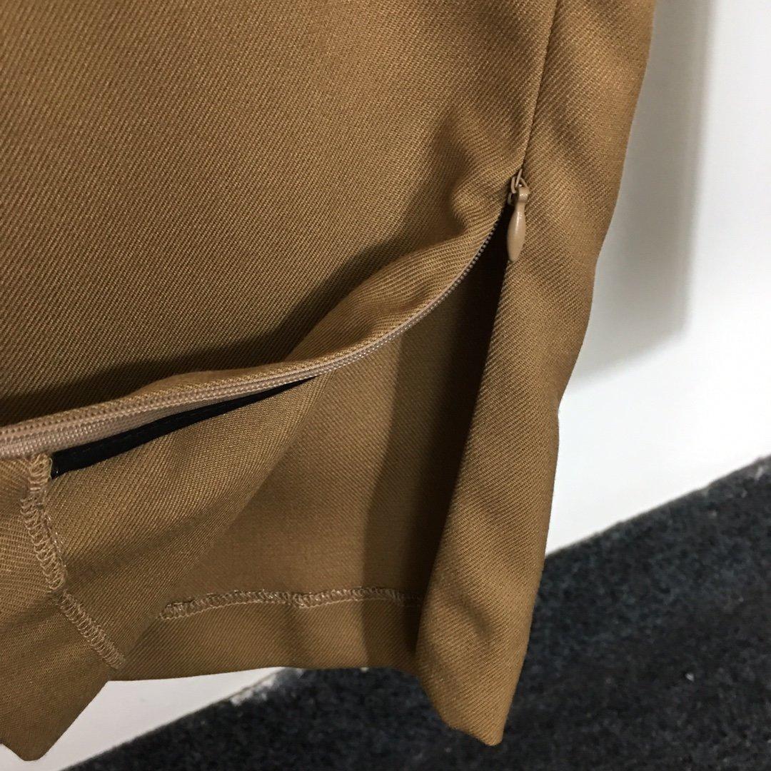 BV新款裤脚拉链开叉高腰显瘦直筒休闲