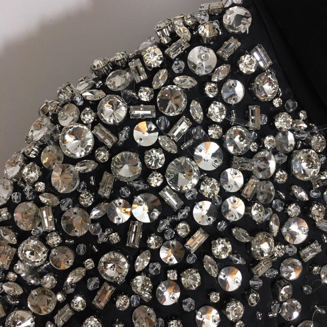 Miumiu新款顶级重工镶钻宝石钉珠