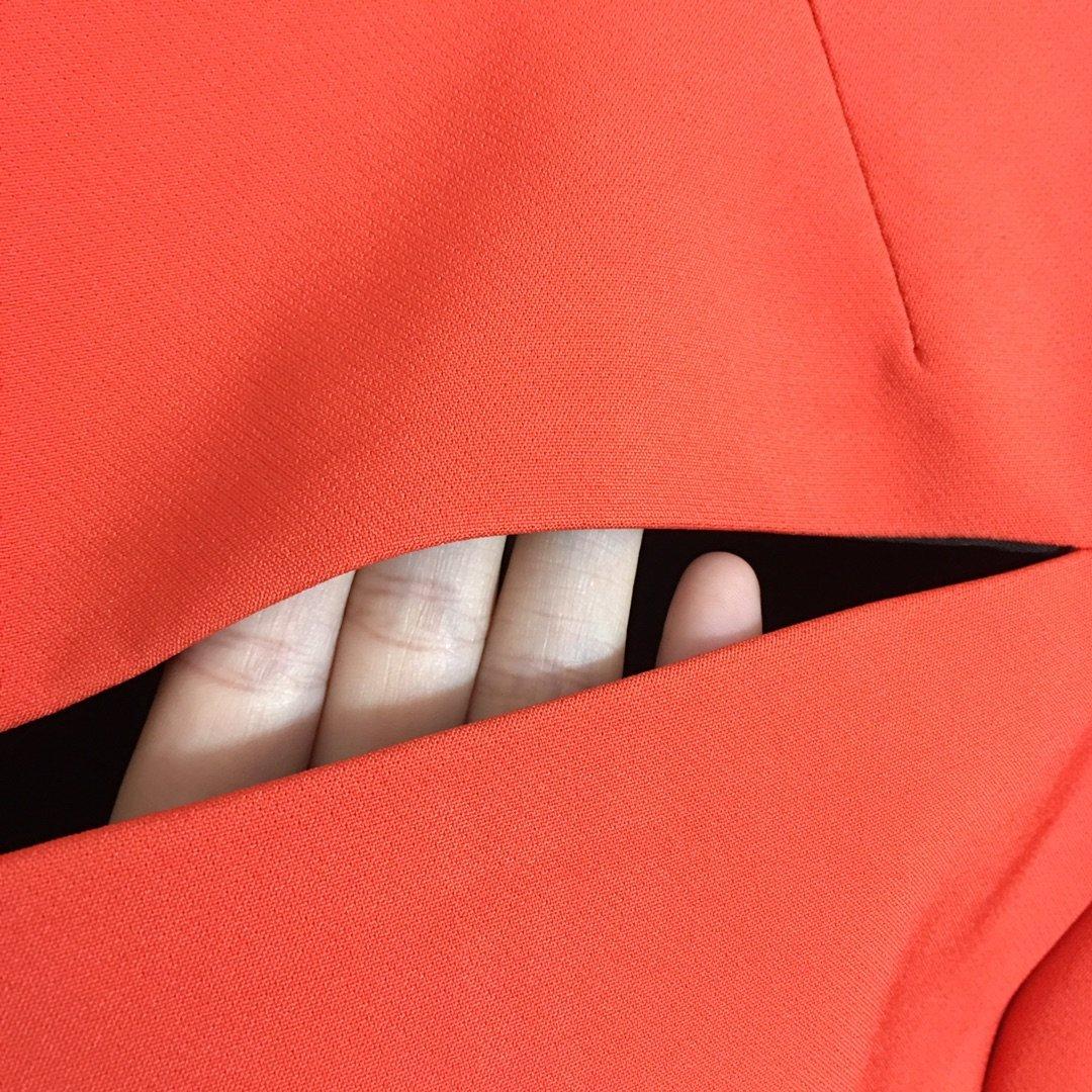 Versace新款关晓彤同款切割破洞