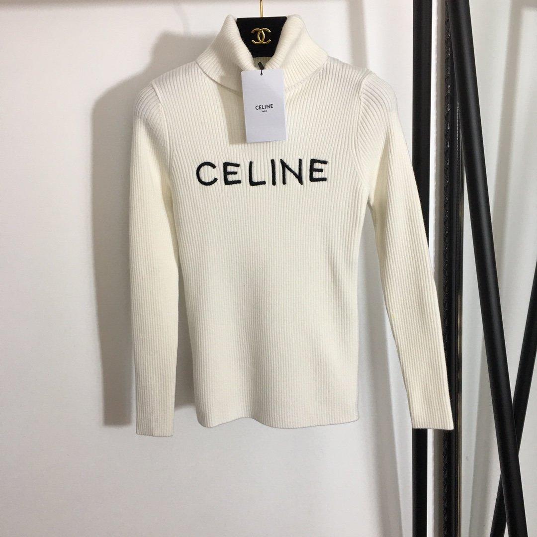 Celine新款胸前logo刺绣字母