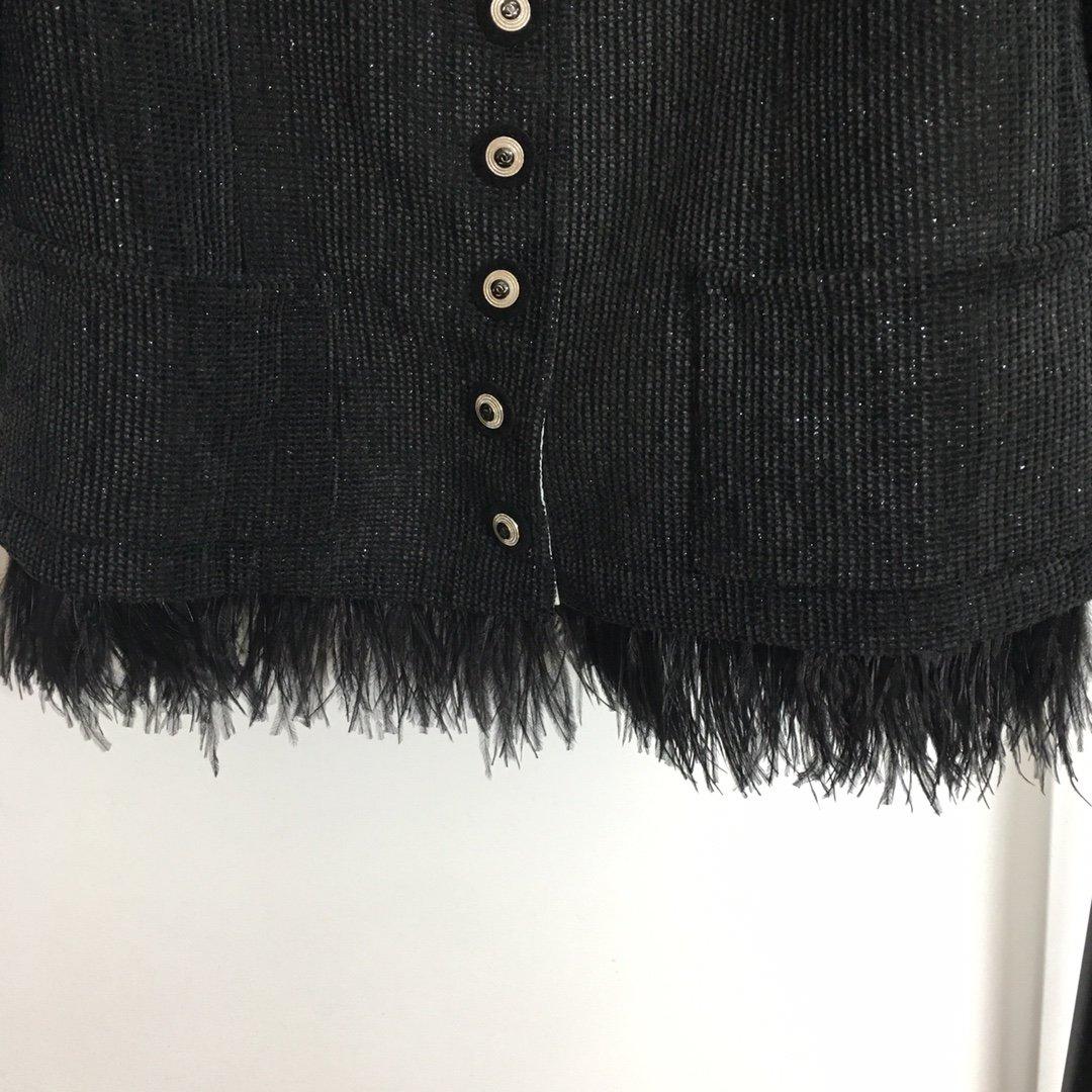Chanel新款小香风亮丝混纺粗花呢