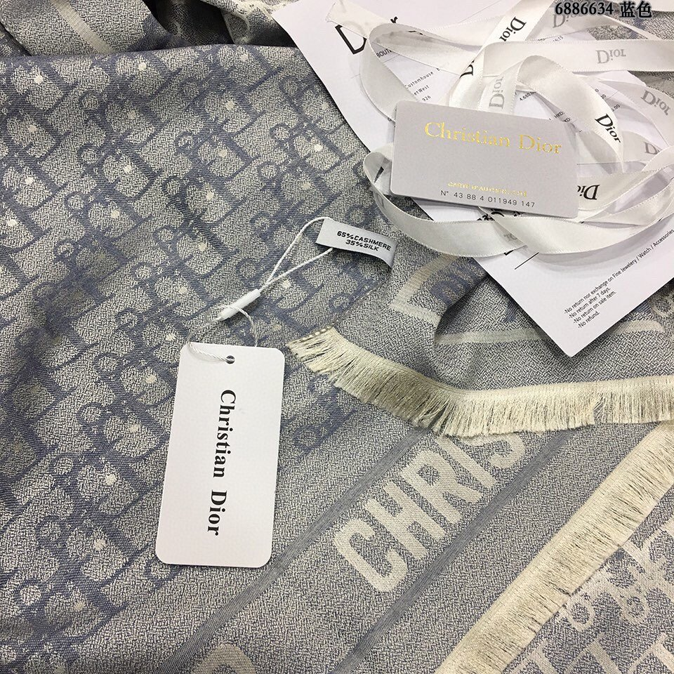 迪奥Dior天丝棉提花围巾垂感特别好