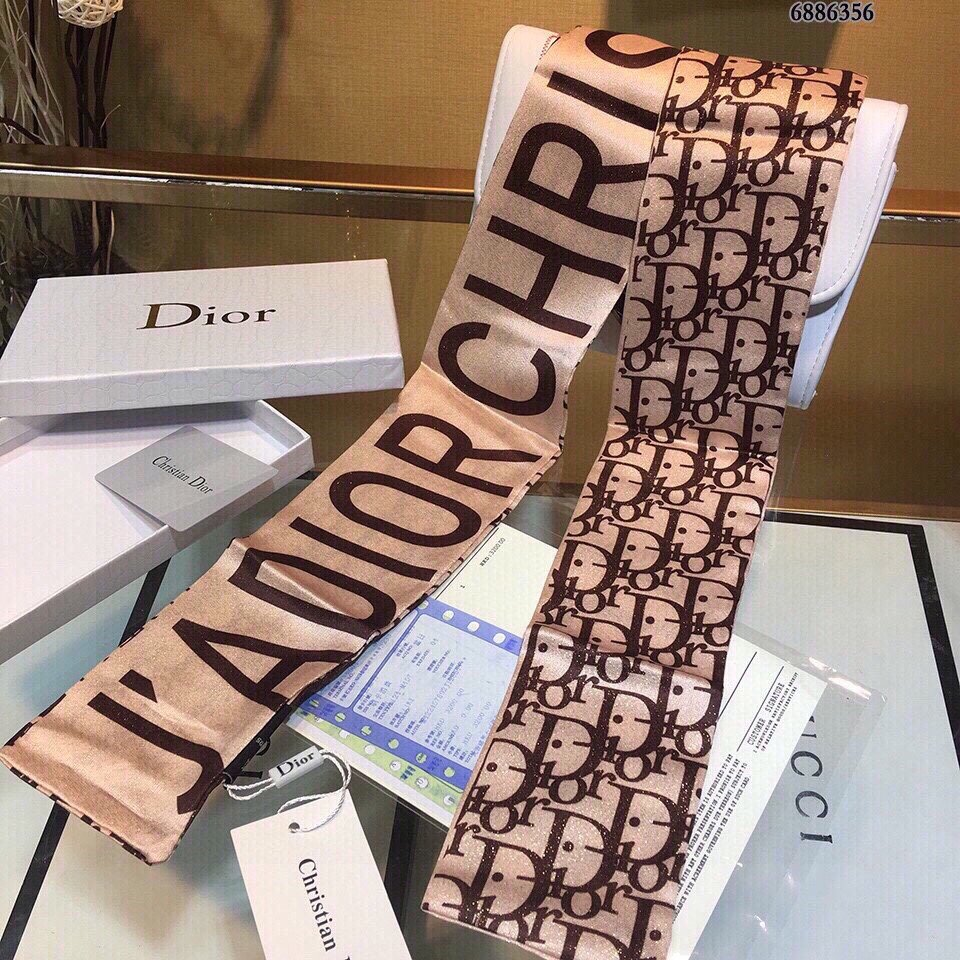 Dior迪奥双层真丝飘带尖端专柜最最