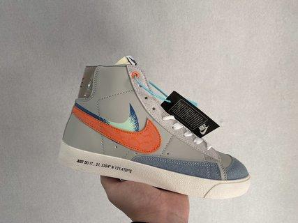 Nike Sb Zoom Blazer Mid 开拓者高帮板鞋男 女 情侣款 街头运动滑板鞋潮 沪上海限定 、带夜光 河北最高质量大可放心卖 尺码36-44