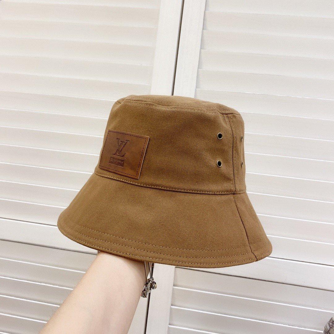 特LV2020新款设计款皮标渔夫帽很