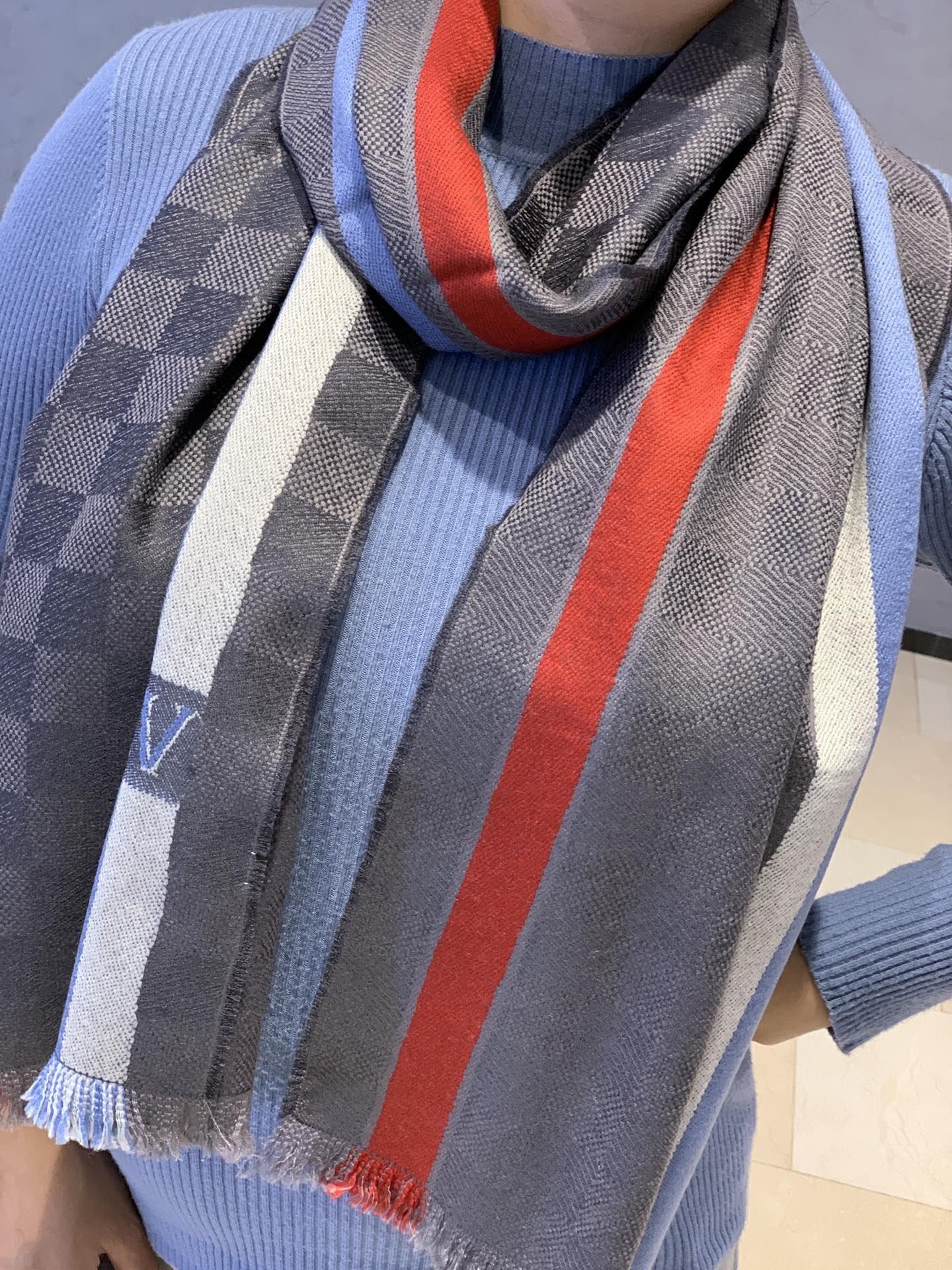 新品上LV原单出口尾货招牌男款围巾L