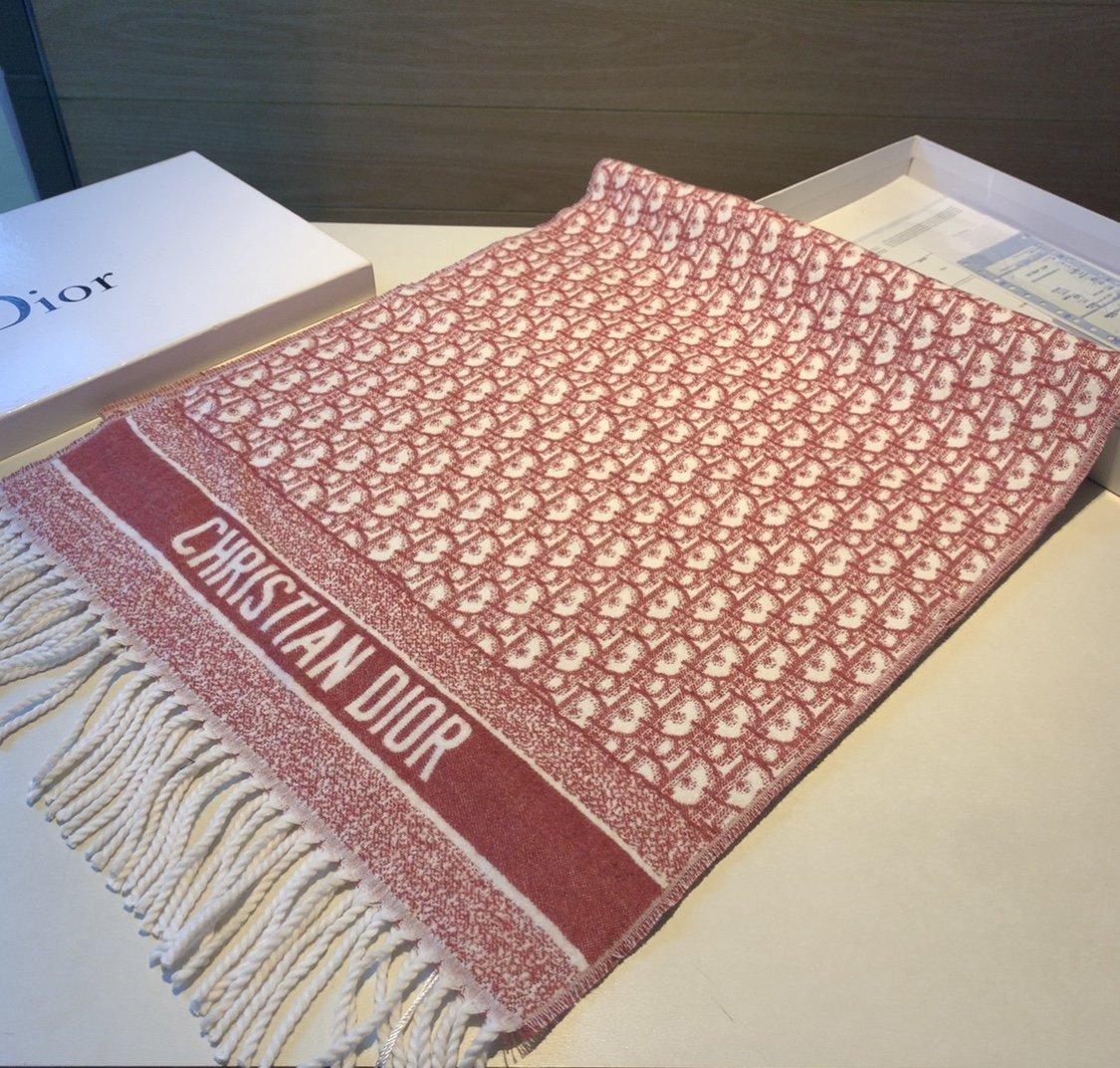 迪奥Dior明星同款千鸟格围巾经典款