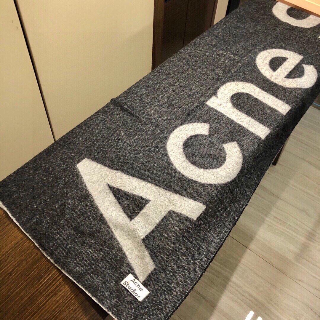 acne大字母披肩今年最热的款原单原