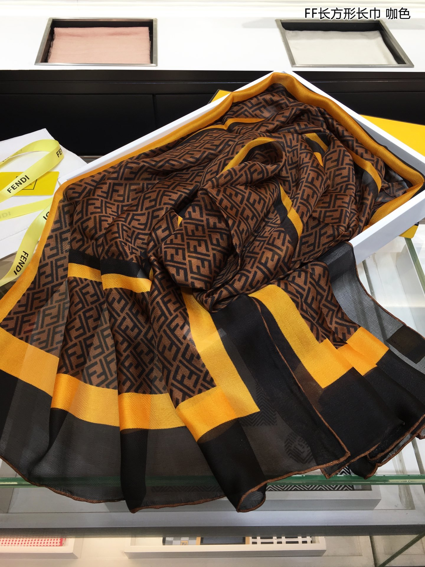 上新FD最新的专柜主打款FF长方巾长