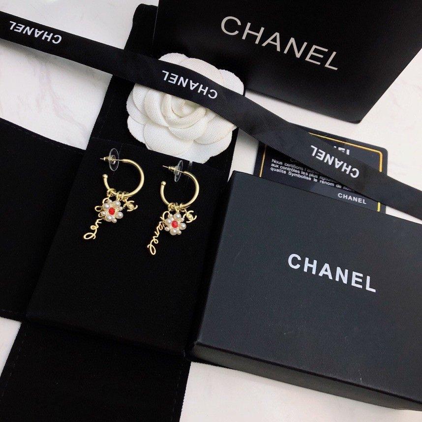 Chanel小香耳钉精选原版一致黄铜