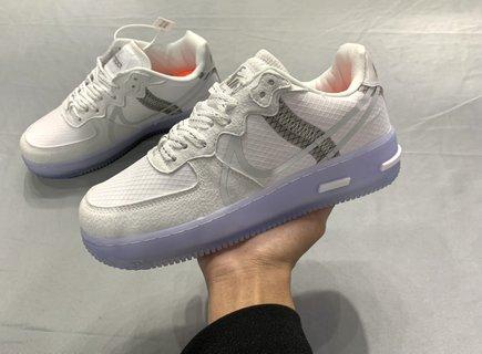 Nike AF1 骨白冰蓝3M反光空军一号  36-44码数 高品质版本