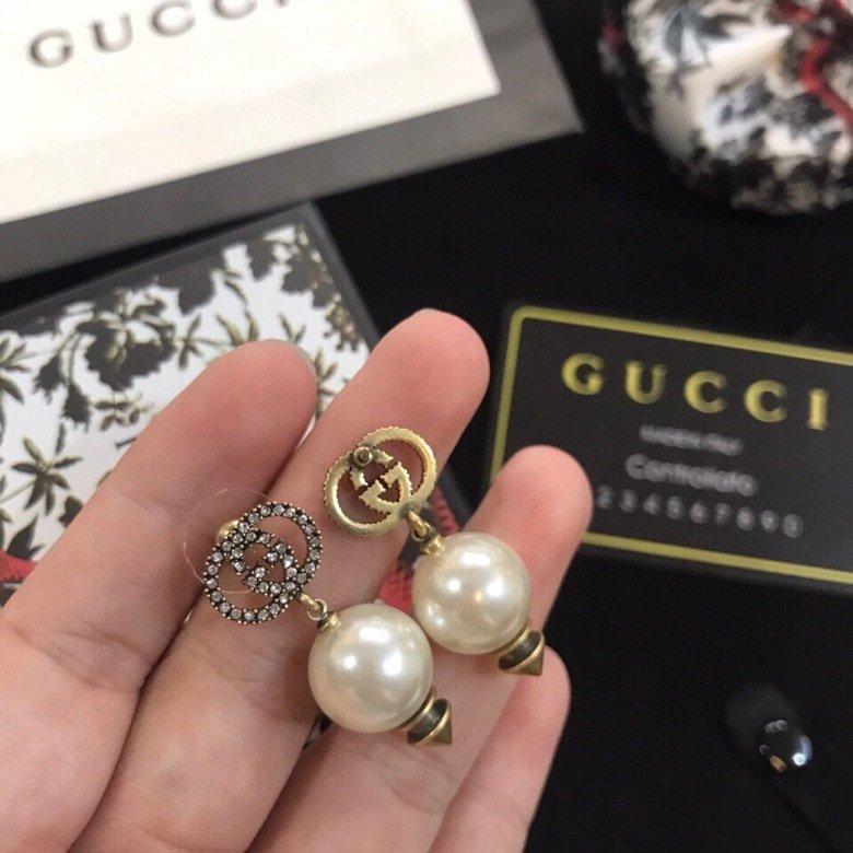古奇耳环Gucci古驰珍珠耳钉时髦配