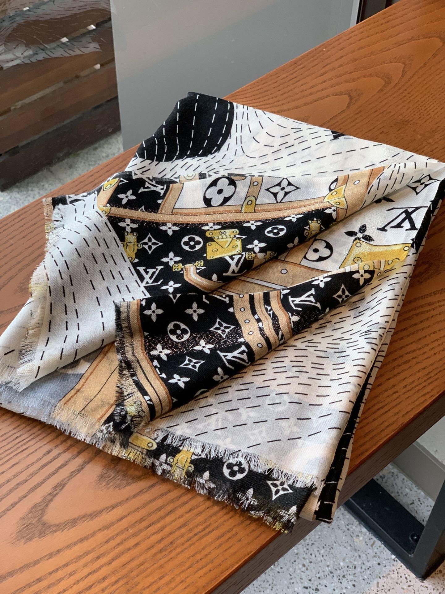 上新会发光发亮的围巾新款客供银线羊绒
