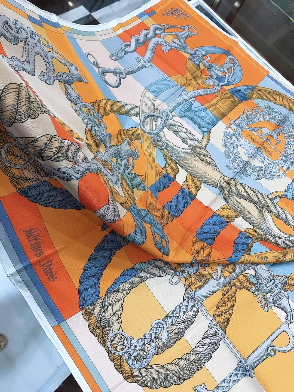 上新爱马仕90cm新款双面方巾专柜在