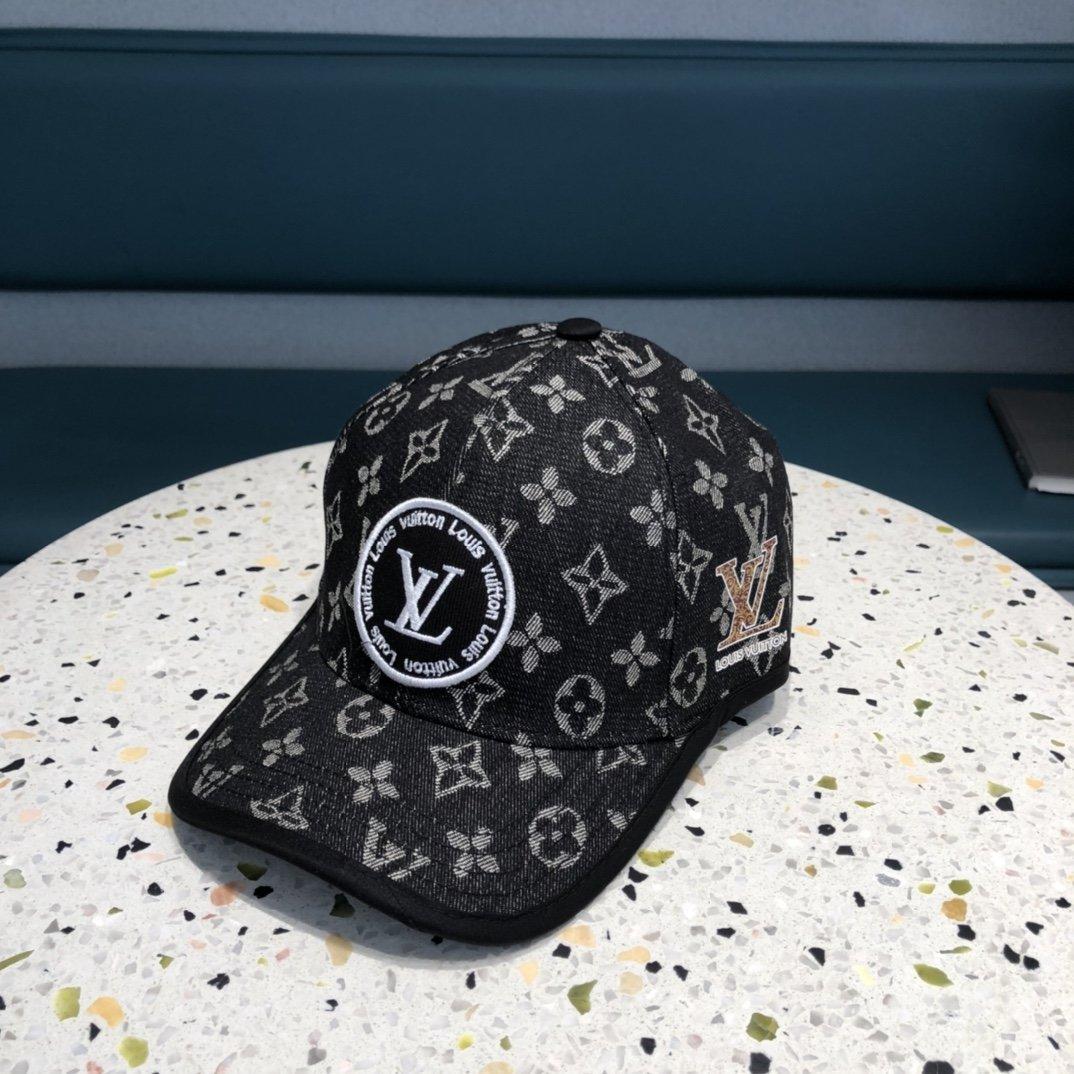 LV2021春夏新款牛仔老花棒球帽官