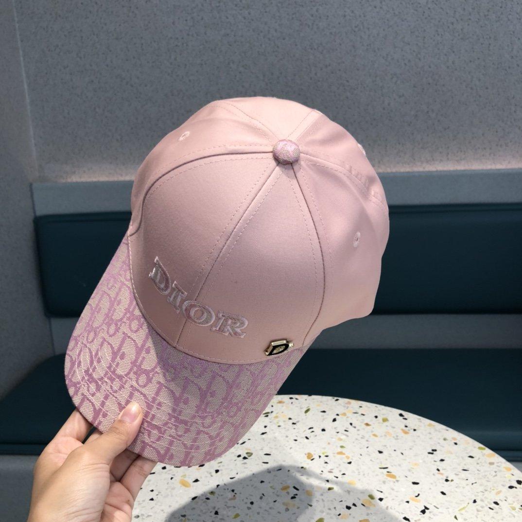 迪奥2021春夏新款刺绣棒球帽精致刺