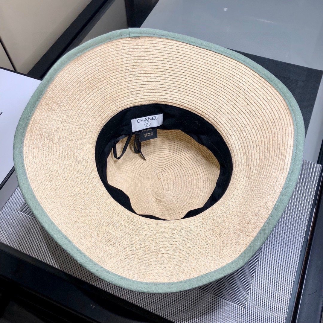 CHANEL香奈经儿典草帽细草编织时