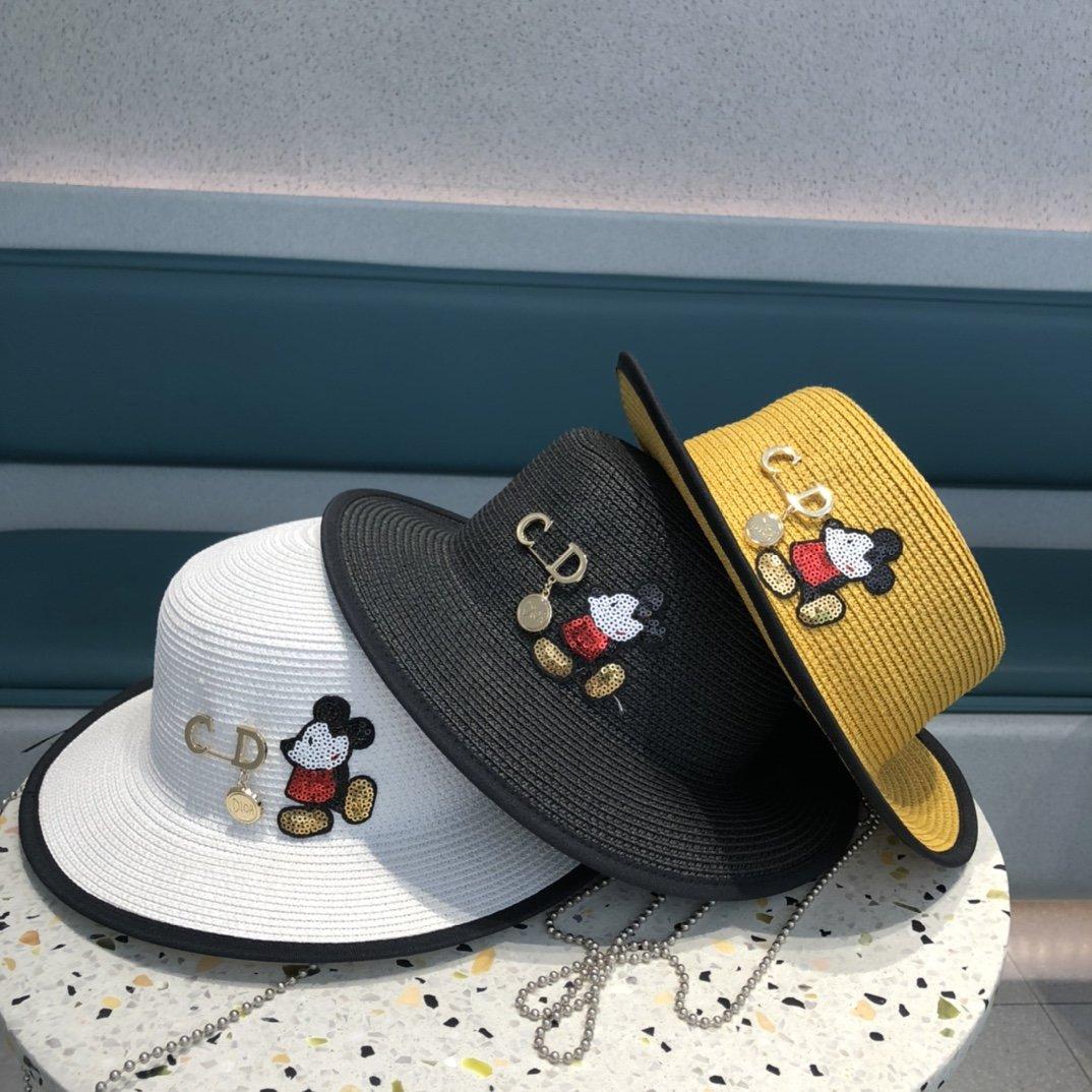 Dior迪奥草帽新款礼帽草帽搭衣休闲