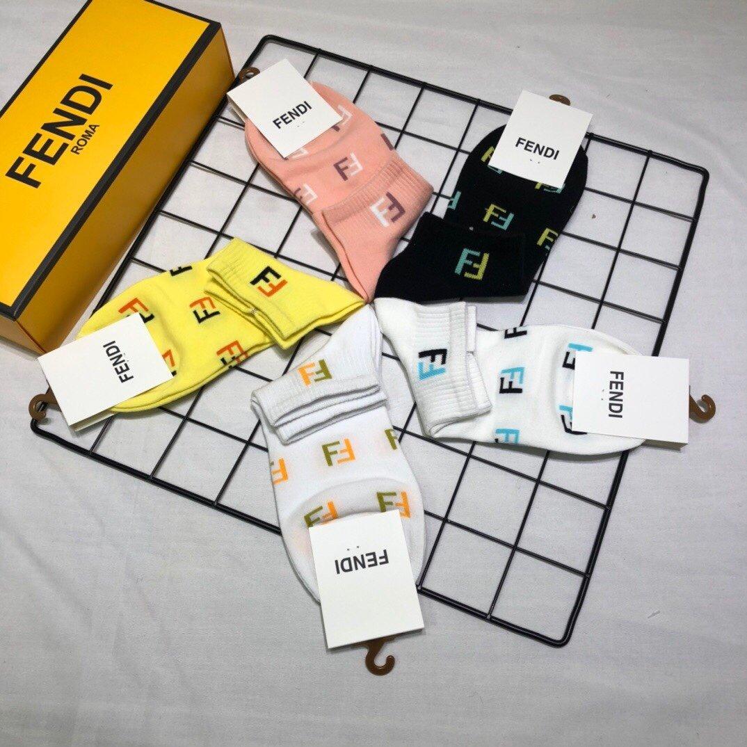 配包装一盒五双FENDI芬迪2020