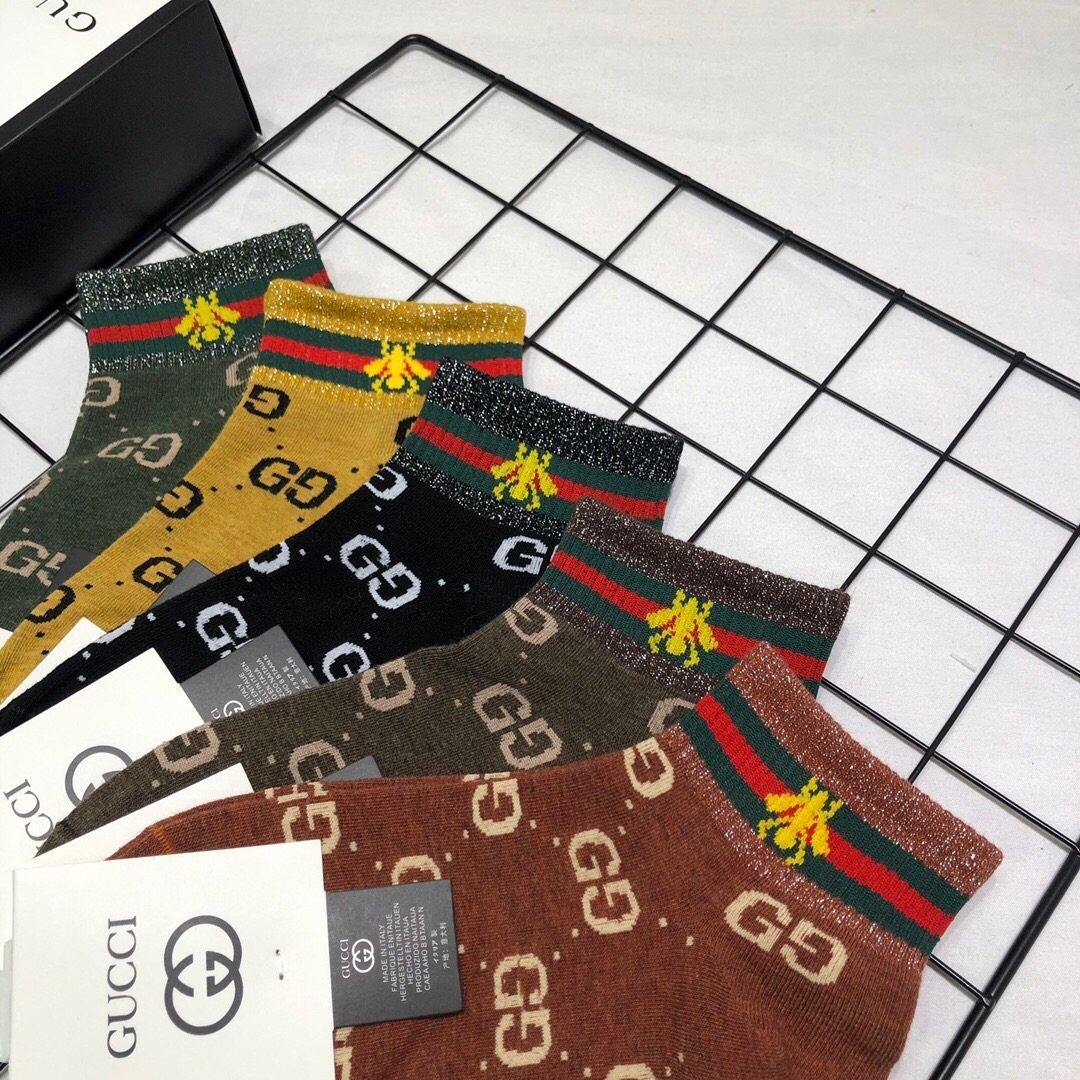 配包装一盒五双Gucci古奇2020