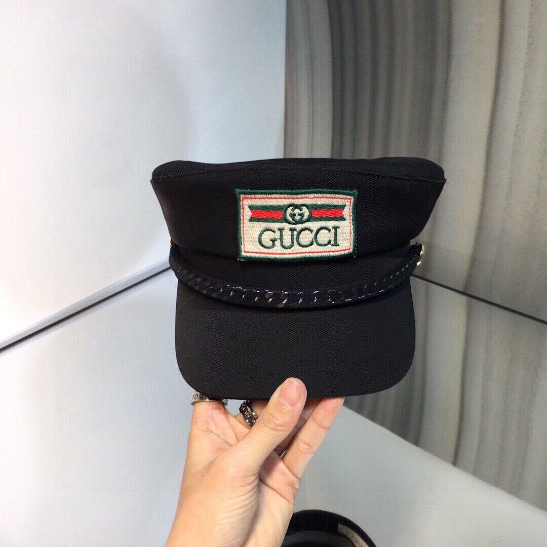 上新古奇GUCCI早春新款海军帽原单