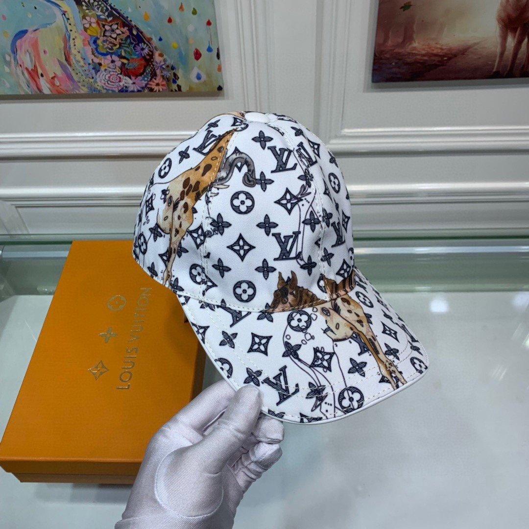 配盒子布袋LV路易威登新款原单棒球帽