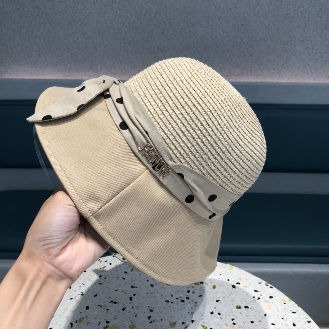 Dior迪奥夏季新品赫本风优雅波点白