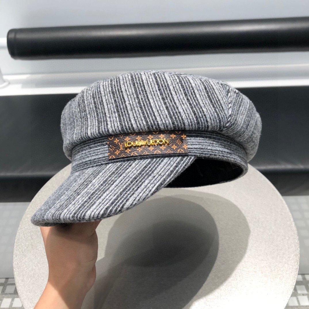 LV路易威登专柜秋冬新款原单鸭舌军帽