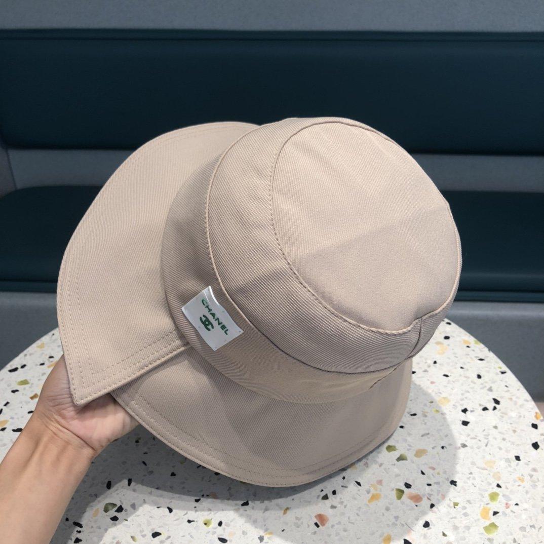 香奈儿Chanel经典原单渔夫帽纯棉