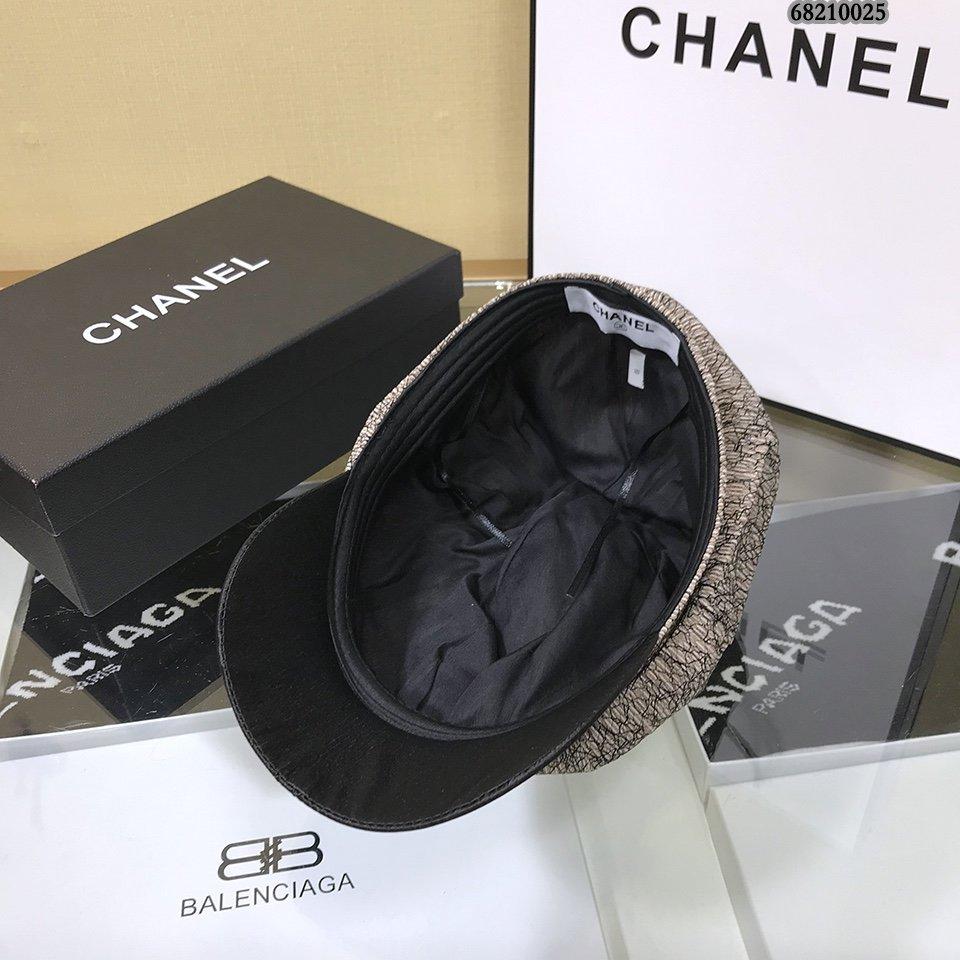 Chanel香奈儿褶皱八角帽画家风系